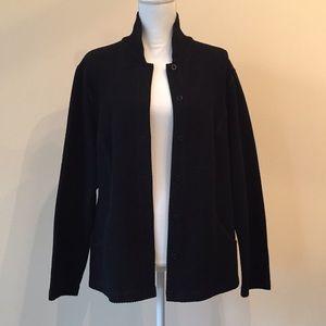 Eileen Fisher Black Knit Jacket